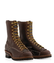 """Wesco boot BR9710100 HIGHLINER Lace-to-Toe 10"""" Boot, Brown, 100 Vibram Sole"""