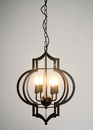 Warehouse of Tiffany LD4046 Addison 4-light Black-finished 17-inch Chandelier with Bulbs