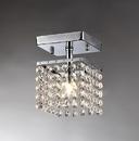 Warehouse of Tiffany RL8086 Jhea 1-light Crystal 5-inch Chrome Chandelier