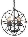 Warehouse of Tiffany RL8121BL Meila 5-light Black 16-inch Spherical Chandelier
