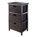 Winsome 20317 Omaha Storage Rack with 3 Foldable Baskets