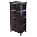 Winsome 20418 Omaha Storage Rack with 4 Foldable Baskets