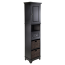 Winsome 20618 Wyatt Cabinet w/2 Baskets, Black Finish