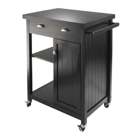 Winsome 20727 Timber Kitchen Cart with Wainscot panel