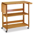 Winsome 34137 Wood Kitchen Cart Foldable with shelves