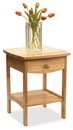 Winsome 82218 Wood Curved End table/Night Stand with one drawer
