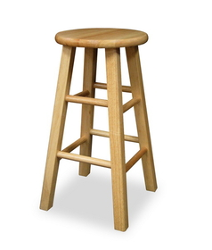 "Winsome 83224 Wood Set of 2, Square Leg 24"" Stool, Assembled"