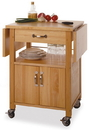 Winsome 84920 Wood Kitchen Cart, Double Drop Leaf, Cabinet with shelf