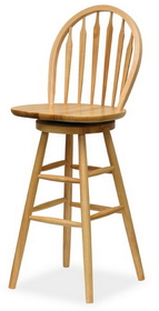 "Winsome 89630 Wood 29"" Windsor Swivel Stool, Single, RTA"