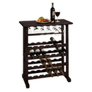 Winsome 92023 Vinny Wine Rack, 24-Bottle with Glass Hanger