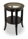 Winsome 92218 Wood Genoa End Table, Glass Inset, one shelf