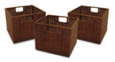 Winsome 92310 Wood Set of 3 Wired Baskets, Small