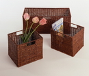 Winsome 92323 Wood Set of 3 Wired Baskets, 1 Large and 2 Small