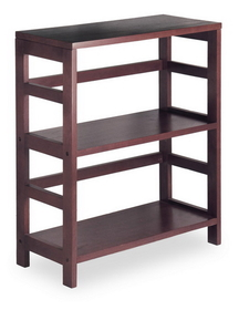 Winsome 92326 Wood Leo Shelf / Storage, Book, 2-Tier Wide