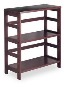 Winsome 92326 Wood Leo Shelf / Storage, Book, 2-Tier Wide