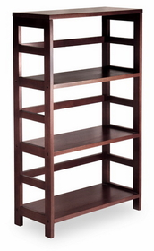 Winsome 92425 Wood Leo Shelf / Storage, Book, 3-Tier Wide