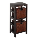 Winsome 92525 Leo 3pc Shelf and Baskets; One shelf, 2 small Baskets; 2 cartons