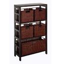 Winsome 92625 Leo 6pc Shelf and Baskets; Shelf, 4 Small and 1 Large Baskets; 3 cartons