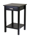 Winsome 92719 Wood Liso End Table / Printer Table with Drawer and Shelf