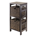 Winsome 92826 Granville 3pc Storage Shelf with 2 Foldable Baskets, Espresso