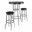 Winsome 93338 Summit 3pc Pub Table Set, includes 2 Swivel Stool