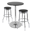 Winsome 93380 Summit 3-Pc Pub Table Set, 28