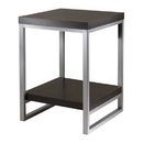 Winsome 93418 Jared End Table, Enamel Steel Tube