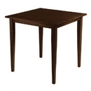 Winsome 94035 Groveland Square Dining Table, Shaker Leg, Antique Walnut Finish