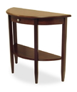 Winsome 94039 Wood Concord Hall / Console Table, Half Moon with Drawer, Shelf