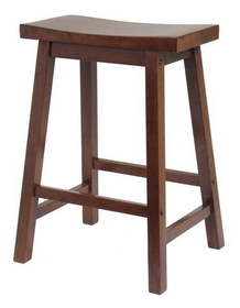 "Winsome 94084 Wood Saddle Seat 24"" Stool, Single, RTA"