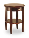 Winsome 94217 Wood Concord Round End Table with Drawer and Shelf