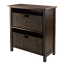 Winsome 94382 Granville 3pc Storage Shelf with 2 Foldable Baskets