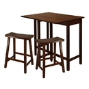 Winsome 94384 Lynnwood 3pc High Drop Leaf Table with 24