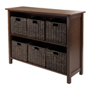 Winsome 94391 Granville 7pc Storage Shelf, 2-section wide with 6 Foldable Baskets