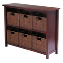 Winsome 94510 Milan 7pc Storage Shelf with Baskets; One Cabinet and 6  small Baskets; 3 cartons
