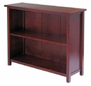 Winsome 94539 Wood Milan Storage Shelf or Bookcase, 3-Tier, Long