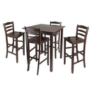 Winsome 94559 Parkland 5pc High Table with 29