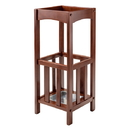 Winsome 94712 Rex Umbrella Stand w/Metal Tray, Walnut Finish
