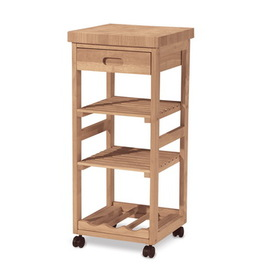 International Concepts WC-1515 Kitchen trolley, Unfiinished