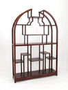 Wayborn 5699 Etagere Display Unit, 72'' x 48'' x 12'', Dark Brown