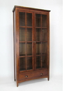 Wayborn 9124 Bookcase W/Glass Door, 82'' x 41'' x 16'', Brown