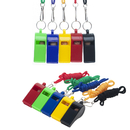 GOGO 100 Pcs Whistles With Lanyard Classic Sporting Coach Whistle For Wholesale