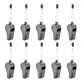 GOGO Plastic Whistle, Sports Coach Whistle With Lanyard & Hook, Black / Red (Wholesale Lot), Party Favors, Price/100 Pcs