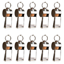 GOGO 100 Pcs Sport Metal Pea Whistle With Lanyard, Referee Whistle, Party Favors