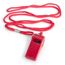 GOGO Whistle Plastic Sport Coach Whistle With Lanyard & Hook - Red