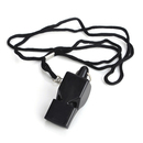 GOGO Plastic Whistle/ Lanyard & Hook, Black Pea-Less Sports Whistle, Safety Whistle