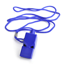 GOGO Whistle, Plastic Pealess Whistle With Lanyard & Hook - Blue, Party Favors