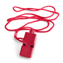 GOGO Safety Whistle With Lanyard, Coach Whistle, Plastic Pea-Less Whistle