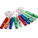 GOGO 10 Pcs Emergency Whistle Keychain, Safety Survival Aluminum Whistle For Hiking Camping