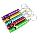 GOGO 10 Pcs Aluminum Whistle, Emergency Safety Whistle Key Chain, Great For Hiking Camping